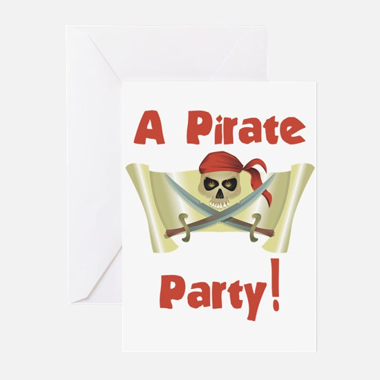 Pirate Birthday Party Invitations (Pk of 10)