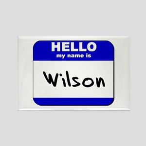 hello my name is wilson Rectangle Magnet