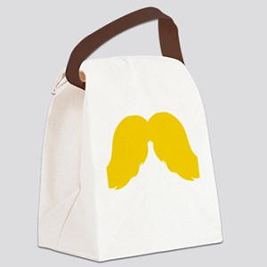 Mustache-051-B Canvas Lunch Bag