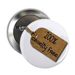 "1oo% Cruelty Free 2 2.25"" Button (100 pack)"