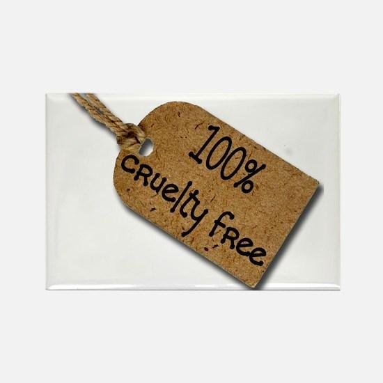 1oo% Cruelty Free 2 Rectangle Magnet