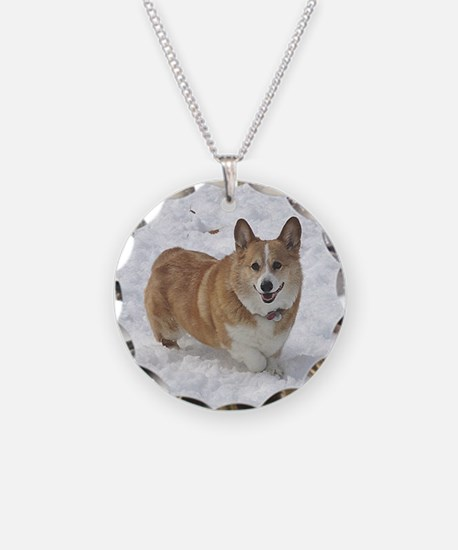 Red and White Corgi in the S Necklace
