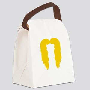 Mustache-057-B Canvas Lunch Bag