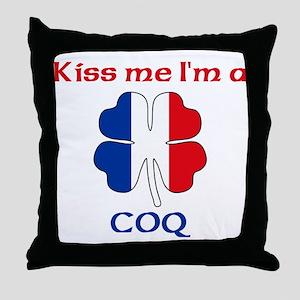 Coq Family Throw Pillow