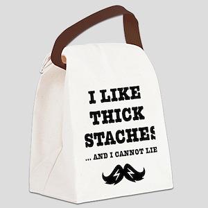 Mustache-094-A Canvas Lunch Bag
