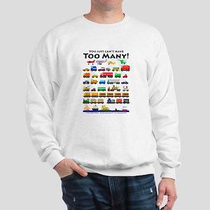 Too Many! Black lettering Hoodie Sweatshirt