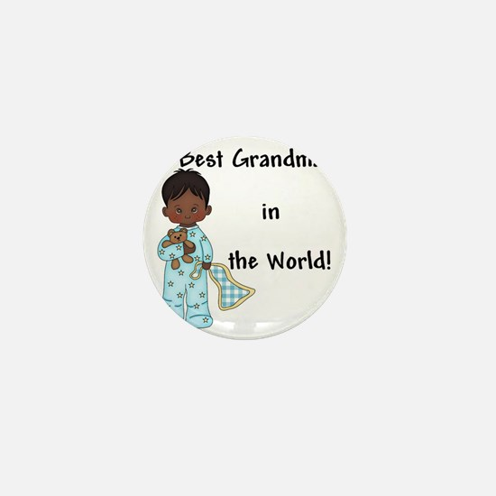 Best Grandma in the World....African A Mini Button
