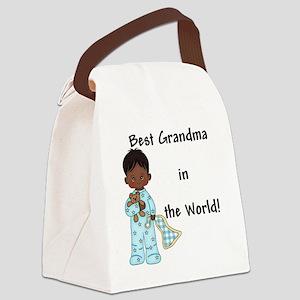 Best Grandma in the World....Afri Canvas Lunch Bag