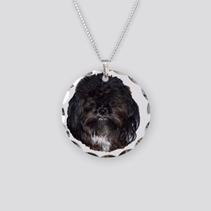 prissy shih tzu Necklace Circle Charm