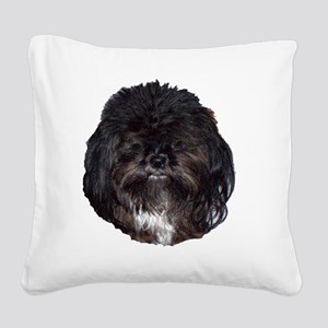 prissy shih tzu Square Canvas Pillow