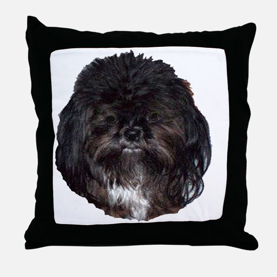 prissy shih tzu Throw Pillow