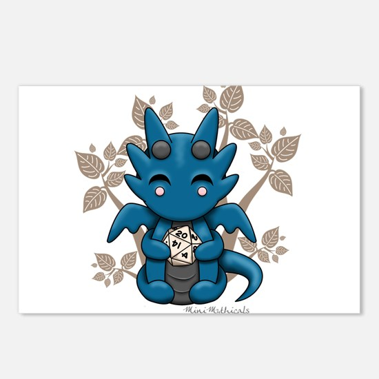 Kawaii Dice Dragon Postcards (Package of 8)