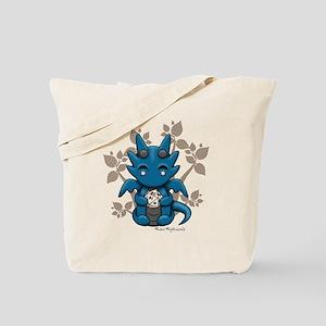 Kawaii Dice Dragon Tote Bag