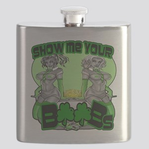 Show me your boobs St Patrick's Day Flask