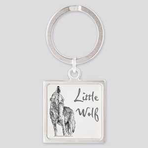 Little Wolf Square Keychain