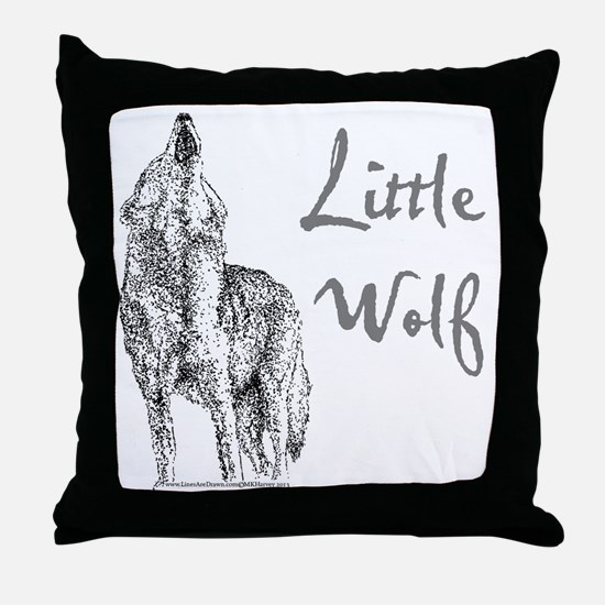 Little Wolf Throw Pillow