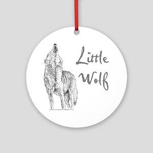 Little Wolf Round Ornament