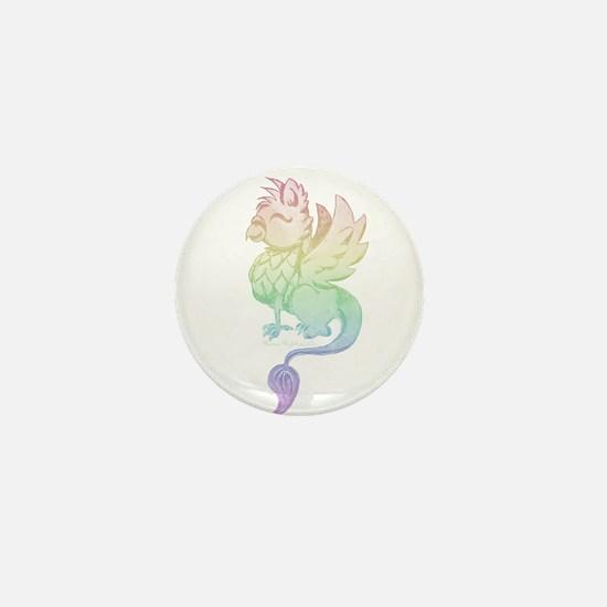 Pastel Rainbow Griffin Mini Button