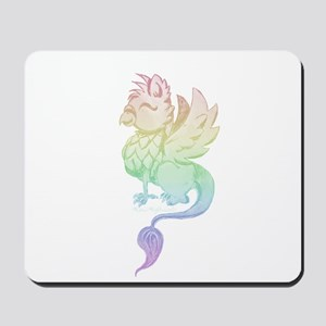 Pastel Rainbow Griffin Mousepad