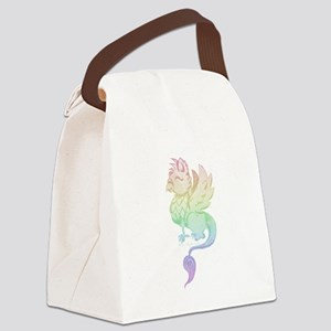 Pastel Rainbow Griffin Canvas Lunch Bag