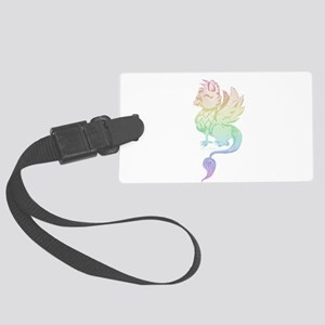 Pastel Rainbow Griffin Luggage Tag