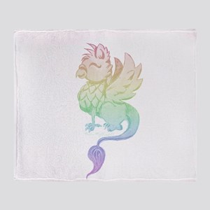 Pastel Rainbow Griffin Throw Blanket