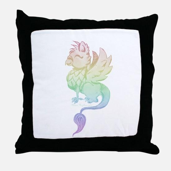 Pastel Rainbow Griffin Throw Pillow