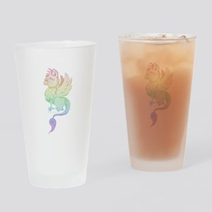 Pastel Rainbow Griffin Drinking Glass