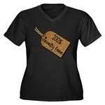 1oo% Cruelty Free 2 Women's Plus Size V-Neck Dark