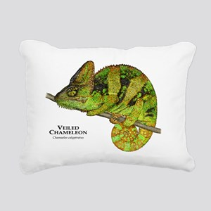 Veiled Chameleon Rectangular Canvas Pillow