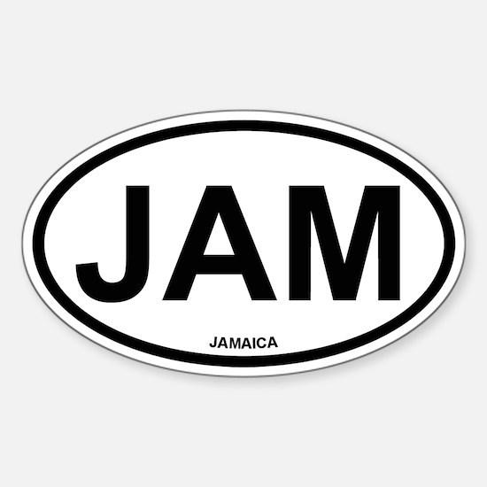 Jamaica Oval Decal