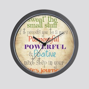 Work Word of the Day Sweat the Small St Wall Clock