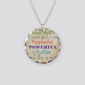 Work Word of the Day Sweat t Necklace Circle Charm