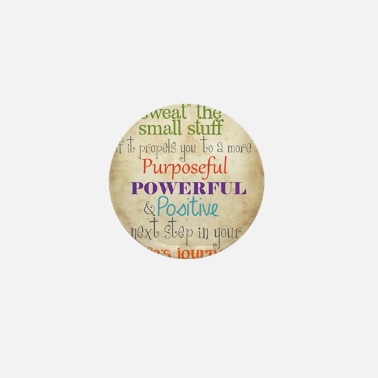 Work Word of the Day Sweat the Small S Mini Button