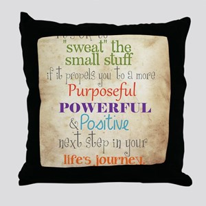 Work Word of the Day Sweat the Small  Throw Pillow