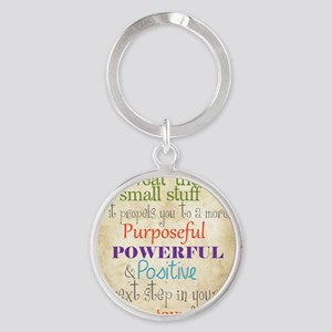 Work Word of the Day Sweat the Smal Round Keychain