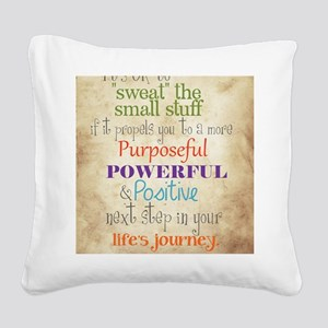 Work Word of the Day Sweat th Square Canvas Pillow