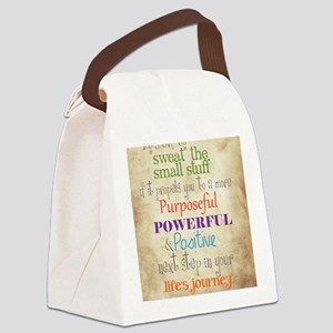 Work Word of the Day Sweat the Sm Canvas Lunch Bag