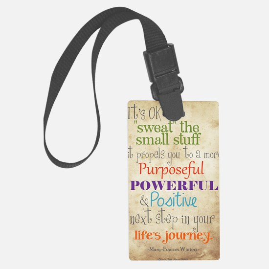 Work Word of the Day Sweat the S Luggage Tag
