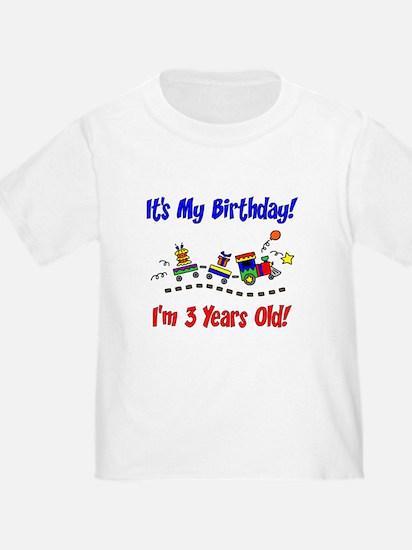 Train 3rd Birthday T
