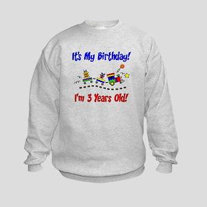 Train 3rd Birthday Kids Sweatshirt