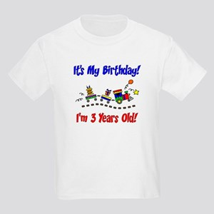 Train 3rd Birthday Kids Light T Shirt