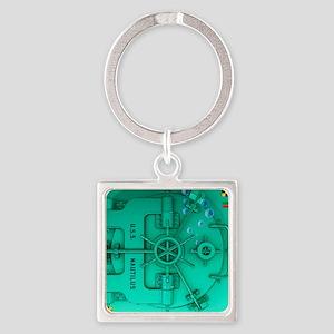 Submarine Door Square Keychain