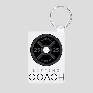 Lifting Coach Aluminum Photo Keychain