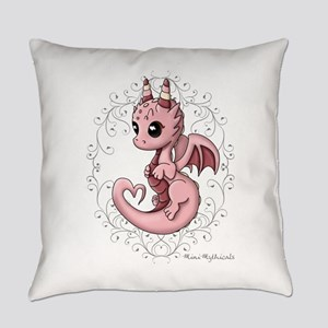 Love Dragon Everyday Pillow