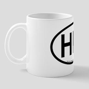 Hilton Head Island-Oval Sticker Mug