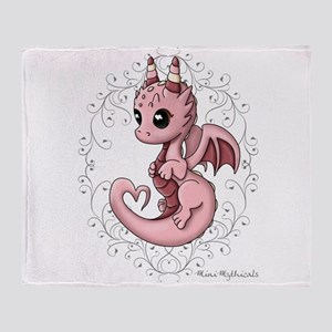 Love Dragon Throw Blanket