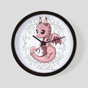 Love Dragon Wall Clock