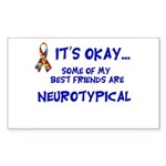 Neurotypical friends Rectangle Sticker