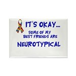 Neurotypical friends Rectangle Magnet